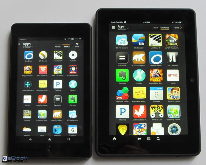 Kindle Fire Size 6 vs 7