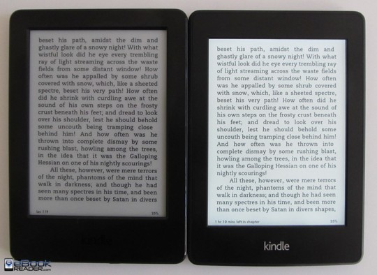 Kindle Paperwhite vs Kindle
