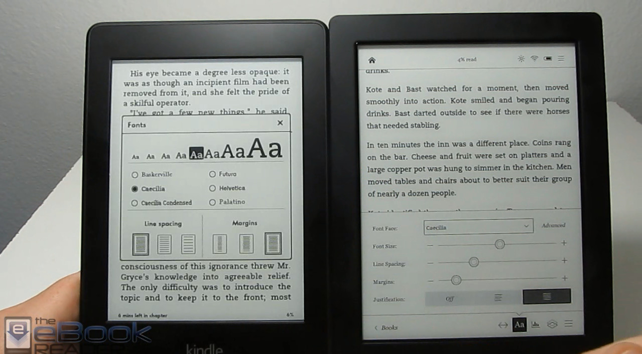 Kobo Aura H2O vs Kindle Paperwhite Comparison Review ...