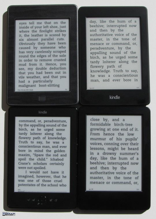 Kindle Screen Comparison