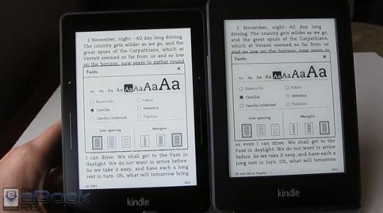 Kindle Voyage vs Kindle Paperwhite