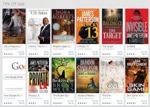 Google eBooks Cyber Monday Sale