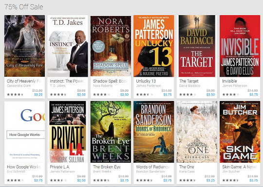75 off popular ebooks at google amazon price matching on kindle google ebooks cyber monday sale fandeluxe Choice Image