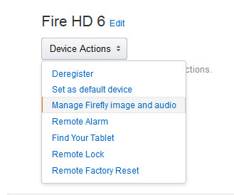 Fire Remote Settings