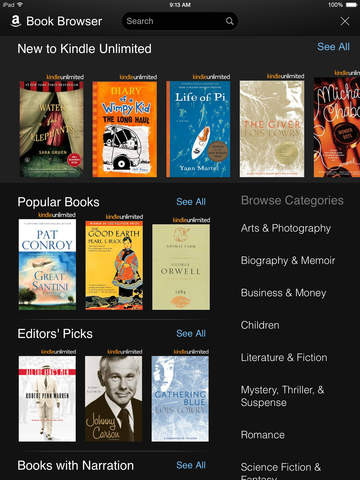 Kindle Book Browser