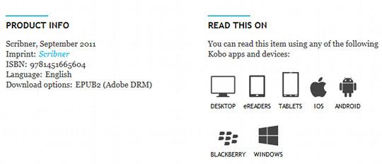 Kobo formats