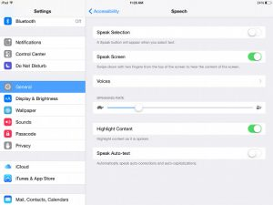 iPad Text to Speech