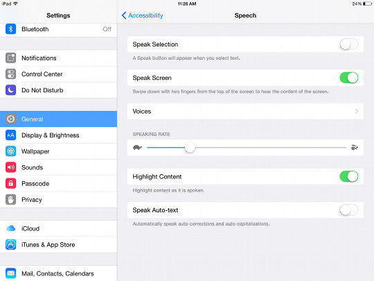 How to enable text to speech on ipad iphone for kindle ibooks ipad text to speech fandeluxe Image collections