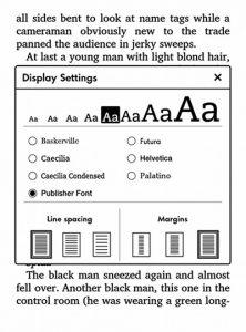 Kindle Publishers Fonts