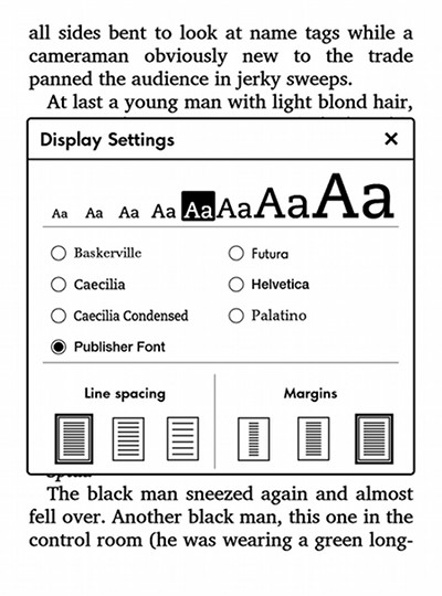 Kindle Publishers Fonts