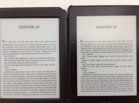 Glo HD vs Kindle Voyage Text
