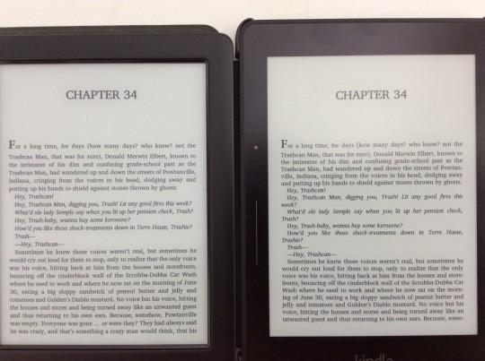 Glo HD vs Kindle Voyage Text