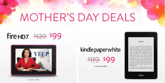 Kindle Mothers Day Sale