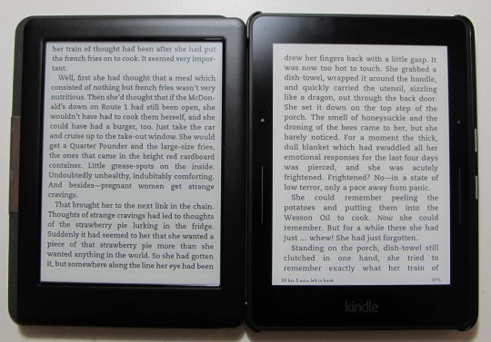 Kindle Voyage vs Glo HD Fonts