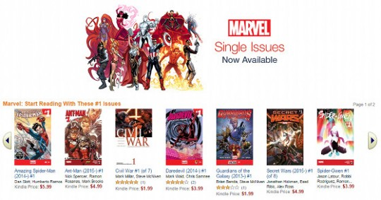 Marvel Comics Kindle