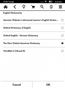 Kindle Dictionaries