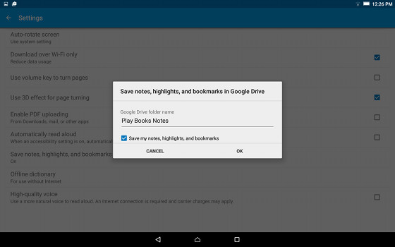 Google Play Books App Now Syncs Notes to Google Drive | The