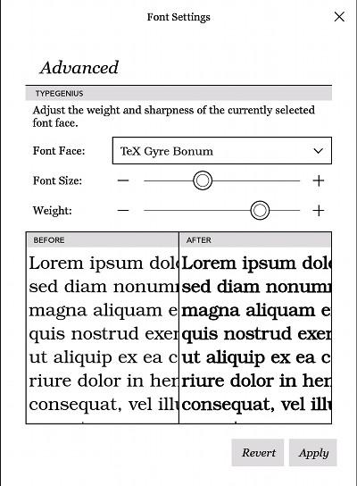 Kobo Fonts