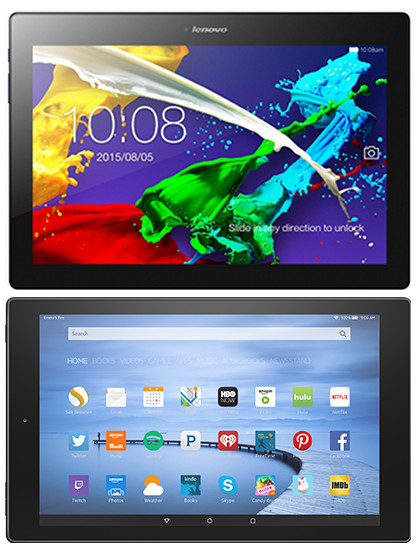 Fire HD 10 Comparison Review vs Lenovo Tab 2 A10