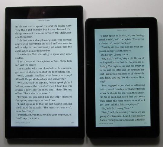 Fire Tablet vs Fire HD 8 Text