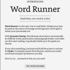 Kindle Word Runner