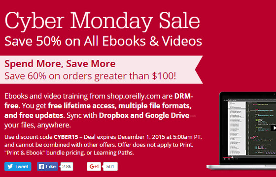 c3a798bf6a6 O Reilly Cyber Monday Sale on eBooks and Videos