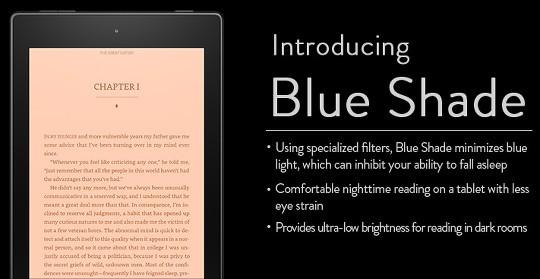 Kindle Fire Blue Shade