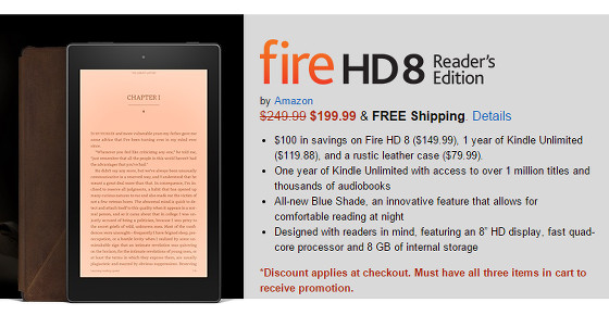 Fire HD Readers Edition tablet