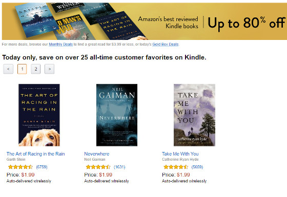 Up to 80% off Amazon's Top Rated Kindle Books – March 26 Only | The