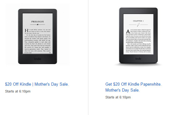 Kindle Mothers Day Deal