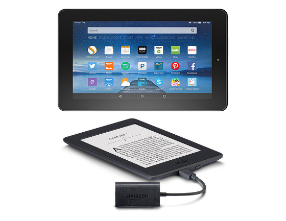Fire vs Kindle Audio Adapter