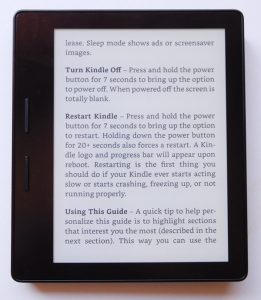 Kindle Oasis Front