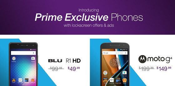 Amazon Prime Exclusive Phones