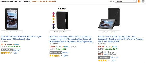 Kindle Covers Sales