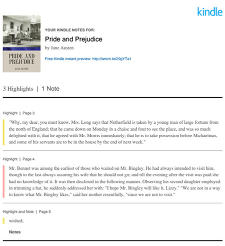 Kindle Export Notes Email