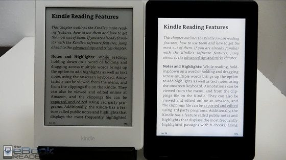 Kindle Paperwhite 3 vs Kindle 2016