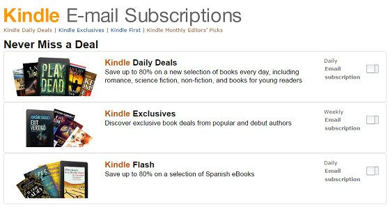 Kindle eMail Subscriptions