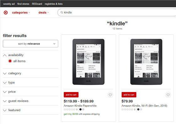 Target Kindle