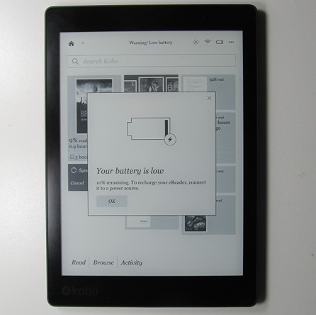 How many weeks does your ebook readers battery stay charged the kobo aura one battery drain issue fandeluxe Image collections
