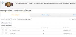 Kindle Cloud Collection Management