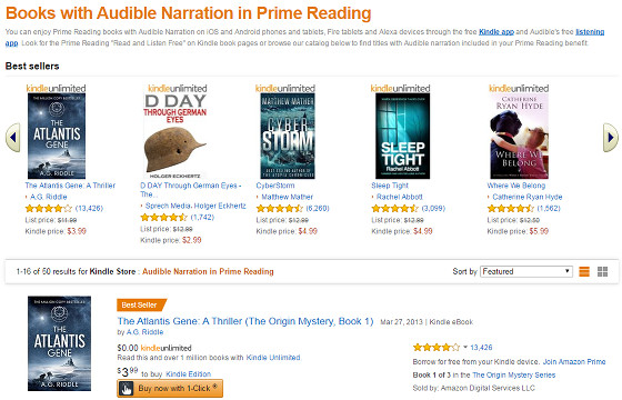 Prime Reading Now Includes Free Audiobooks Too The Ebook