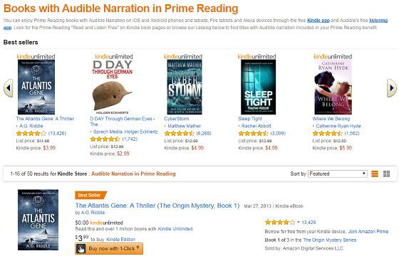 does amazon prime have free audio books