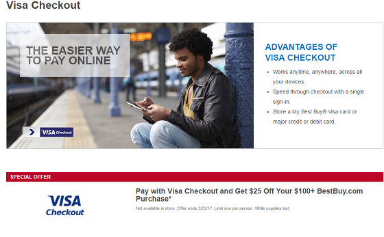 25 off promo at best buy with visa checkout the ebook reader blog