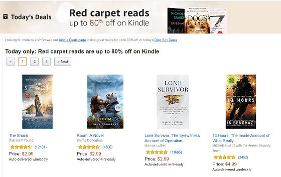 Kindle Red Carpet Sale