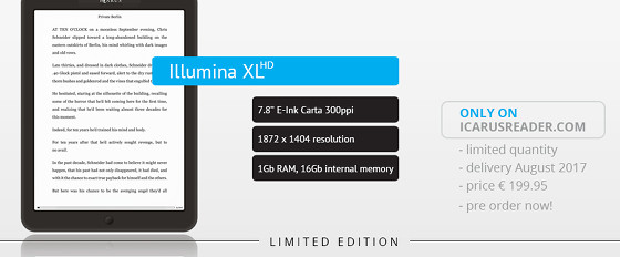 Icarus Illumina XL HD with 7.8″ 300 ppi Screen Coming Soon ...