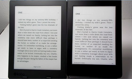 Kindle vs Kobo Aura H2O