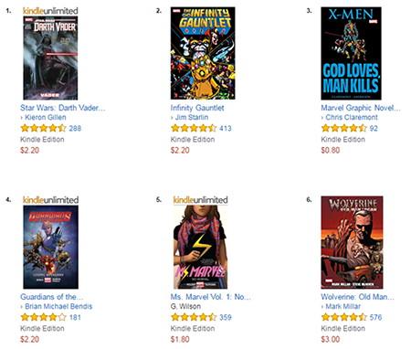 Marvel Kindle Sale