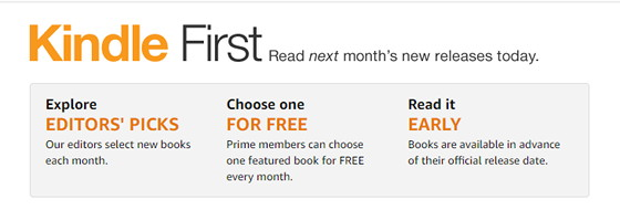 Prime Members Don T Forget Your Free Kindle First Ebook Each