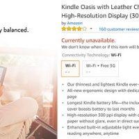 Kindle Oasis Unavailable