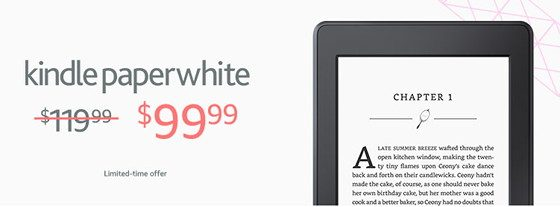 Kindle Paperwhite Sale